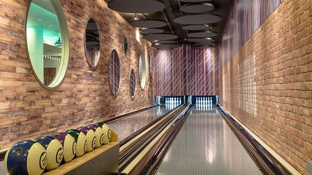The bowling alley at the Courthouse Hotel. Photo: Jarek Klocinski