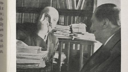 H.G. Wells in conversation with Lenin. Picture: British Library