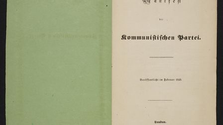 First edition of the Communist Manifesto. Picture: British Library