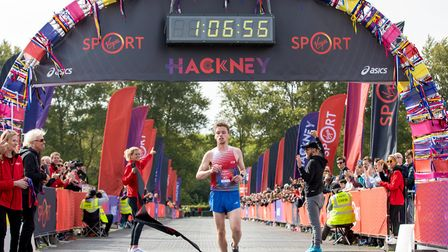 Paul Whittaker was the fastest runner in this year's Hackney Half Marathon, with a time of 1.06.55.