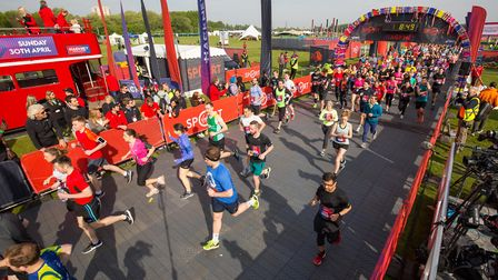 The race begins. Can you see yourself? Picture: Tom Nicholson/Rex/Shutterstock