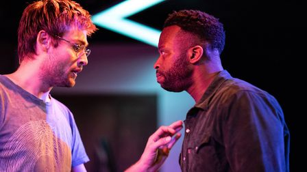 Douglas Booth, left, proves he's more than just a pretty face, as he stars alongside Clifford Samuel