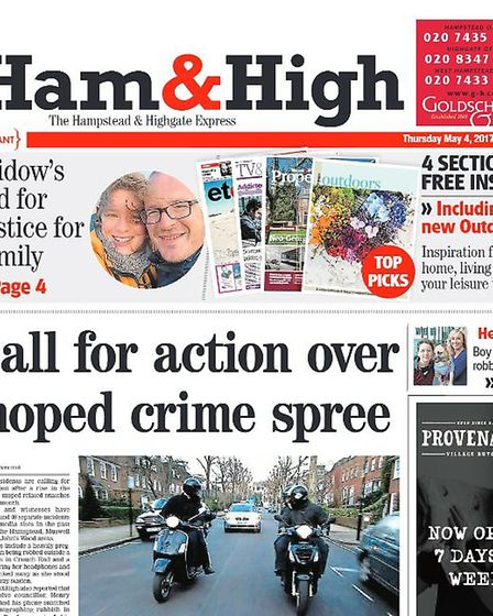 The Ham&High has focused on public concern following a spate of moped crimes in the area.