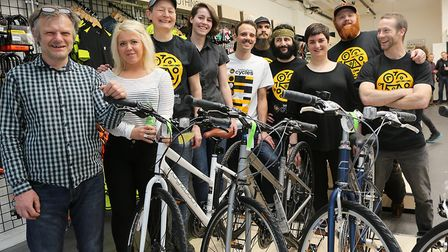 London Fields Cycles reopened after a fire last year. Picture: Melissa Page