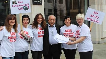 Alberto D'Auria and supporters delivered their petition to the City of London Corporation last year.