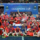 Saracens' celebrate after winning the European Champions Cup Final at Murrayfield (pic Mike Egerton/