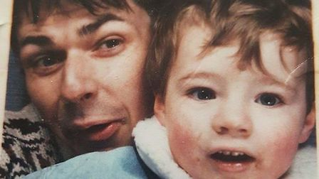 Jason pictured as a toddler with his dad. Pictures: BBC Panorama