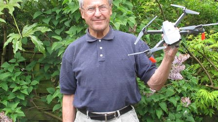 Reitred UCL lab technician Jim Chambers fears the public are being put at risk by people flying dron