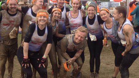 The team completed the Tough Mudder course together over five hours