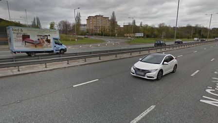 Collision between police car and teenager moped rider on the North Circular (Pic: Google)