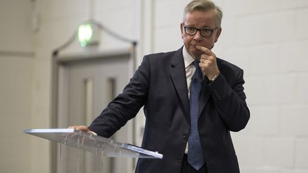 MP Michael Gove speaking at South Hampstead High School on Monday night. Photo by Anthony Keiler.