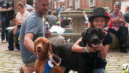 Dogs and owners enjoying last year's Crouch End Dog Show which raised money for Overseas Animal Resc