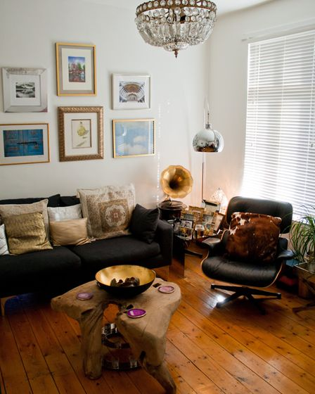 The rooms are an eclectic mix of furniture, art and plants Drummond has collected over the years