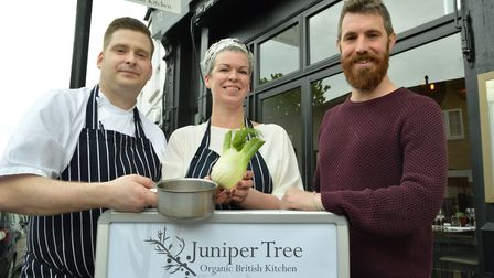 Shauna Kelly cooked a meal for 55 people at The Juniper Tree in Belsize Lane - her second time in a