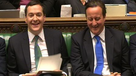 Former chancellor George Osborne and former prime minister David Cameron. Photograph: PA Wire.