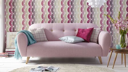 The Betsy 3 Seater Sofa in Pink, 579, available from Dfs.co.uk.