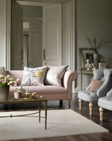 Eaton Sofa in Nina Campbell, available from Delcor.co.uk