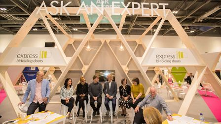 Kevin McCloud took part in a panel discussion at the 'ask an expert' booth at Grand Designs Live, Ex