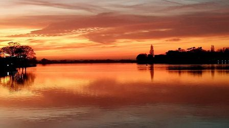 A sunset shot taken at Oulton Broad by Sid Cole. Picture: Sid Cole.