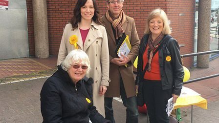 Kirsty Allan with other Lib Dem campaigners