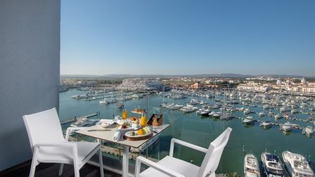 The hotel boasts an incredible view of both the harbour and the beach