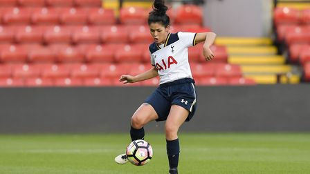 Shannon Moloney in action for Tottenham Hotspur Ladies against Watford (pic: Ying Pan Wu/Wu's Photog