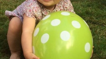 Husband Richard held a second birthday party for Gabriella in London in June. Gabriella is pictured