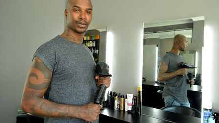 Stylist Darren Scott in his salon at 117 Shirland Rd. Picture: Polly Hancock