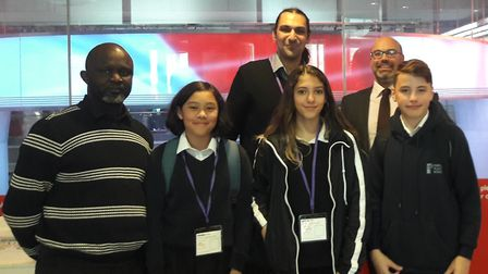 Staff and students from Portland Place School shared their social media expertise with Victoria Derb