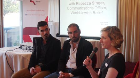 Fares & Abdullah in conversation with World Jewish Relief's Rebecca Singer