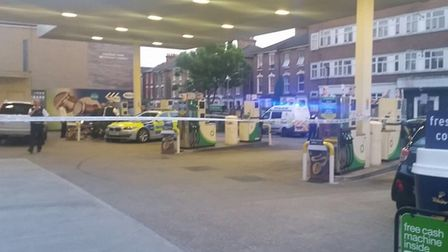 A 19-year-old man was stabbed in the leg at the BP garage in Seven Sisters Road. Picture: @999London