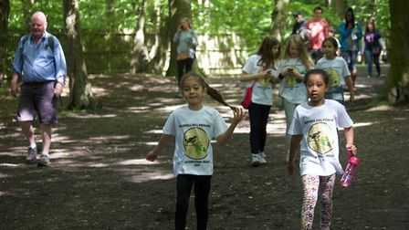 Muswell Hill Primary School's sponsored walk.