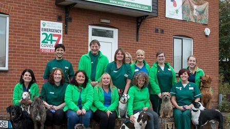 The Wangford Veterinary Clinic team are celebrating being named Pet Clinic of the Year 2017. Picture