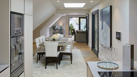 The penthouse comes with a luxury fitted kitchen