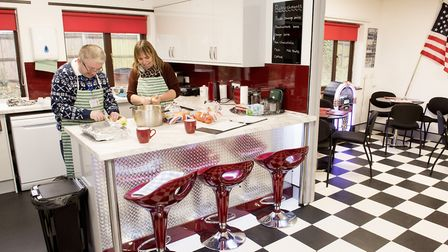 Otium centre user David Carter with Melanie Coote in the American style diner.Picture: Nick Butcher