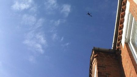 Officers are dealing with a man on a roof in Sutton Road, Muswell Hill. Picture: Ian Edelman