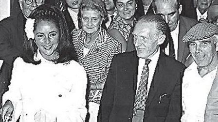 Elizabeth Taylor, second left, at the re-opening of the Pedro Club in July 1969.