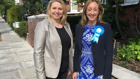 Claire-Louise Leyland, right, with Karen Bradley. Picture: Iain Burns