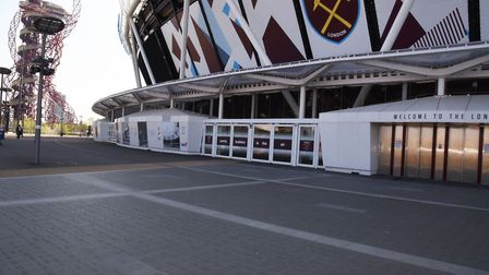 Champions Place outside the West Ham ground at the London Stadium. Picture: Ken Mears