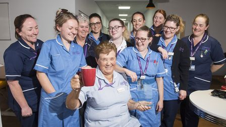 Maureen Underdown, 77, who works as a community healthcare assistant for East Coast Community Health