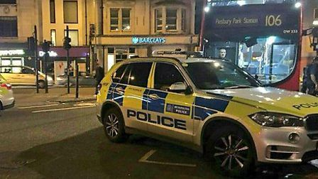 Armed police descended on Finsbury Park on Sunday night when three teenagers were thought to have be
