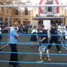 Youngsters try their hand at boxing at the Haringey Box Cup Schools' Day at Alexandra Palace