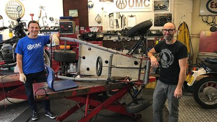 Gavin Conway and Adam Kay have been working on their entry for the Redbull Soapbox Race in their gar
