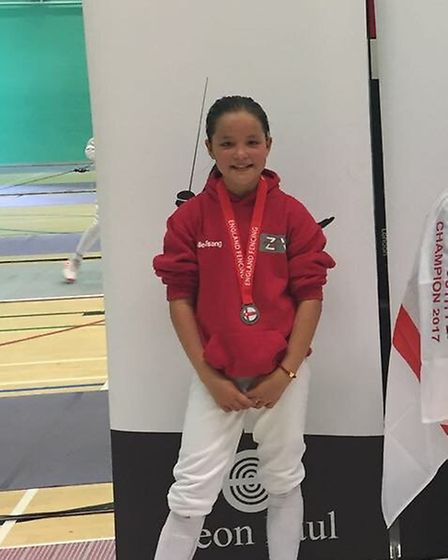 ZFW's Amelie Tsang won silver at the England Youth Championships