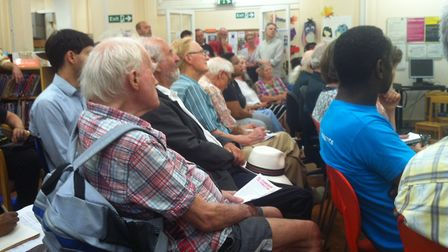 Supporters of Highgate Library grilled Jacksons Lane managers after viewing relocation plans for the