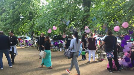 Fans celebrate George Michael's birthday outside his home in The Grove, Highgate Pictures: SUKY GRAN