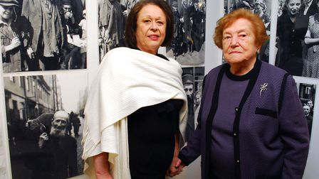 Sabina Miller at an exhibition to mark the Warsaw Ghetto uprising in April 1943 at the LJCC in 2014.