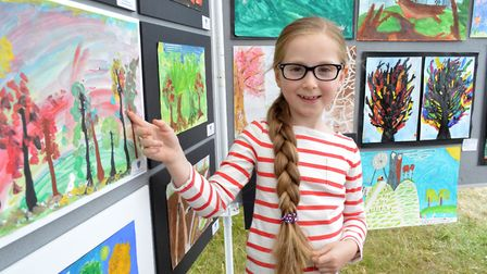 Hampstead Summer Festival Art Fair at Whitestone Pond 25.06.17. Children's art exhibitor Mourielle W