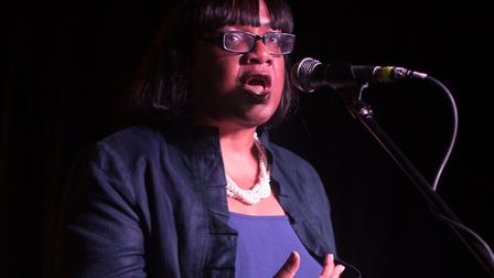 Hackney North and Stoke Newington MP Diane Abbott speaks at her 'appreciation night' at the Queen of