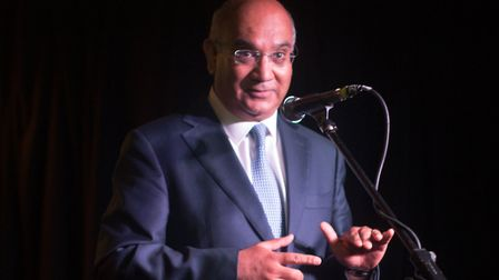 Keith Vaz MP speaks at the 'Diane Abbott appreciation night' at the Queen of Hoxton. Picture: Stefan